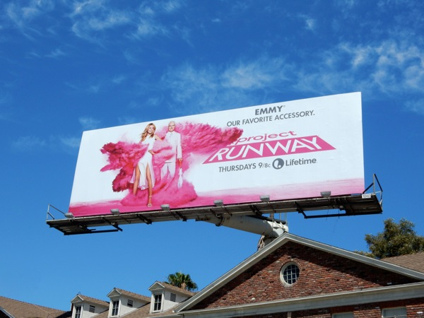 Project Runway Emmy 2015 Favorite accessory billboard