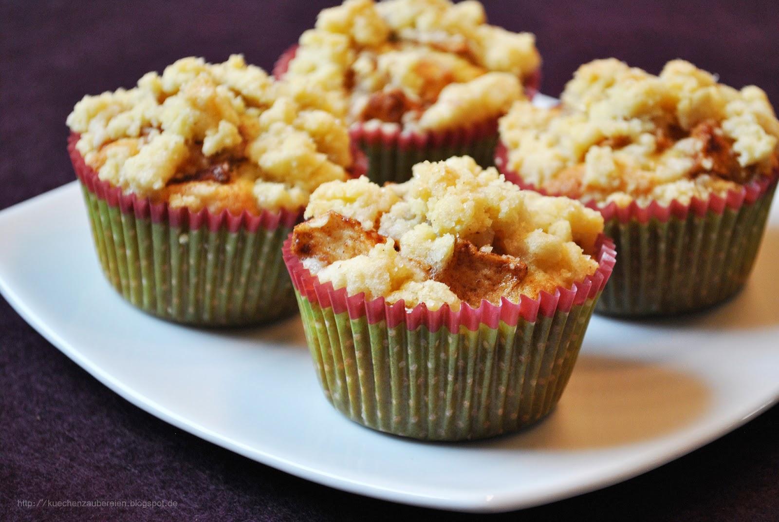 k chenzaubereien winterliche apfel streusel muffins mit marzipan. Black Bedroom Furniture Sets. Home Design Ideas