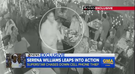 Serena Williams phone theft