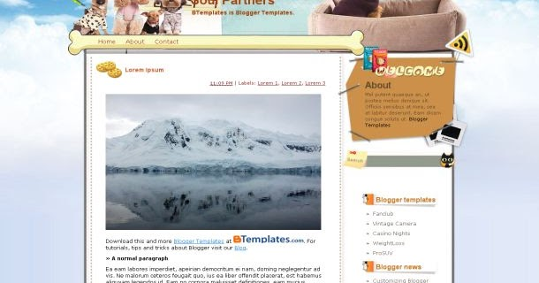 your blog template free