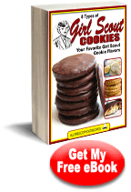 Free eCookbook: 8 Types of Girl Scout Cookies: Your Favorite Girl Scout Cookie Flavors, featuring 13 pages of different varieties of Girl Scout cookies