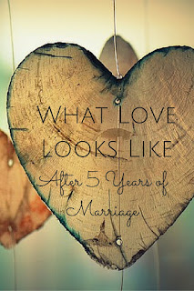 My husband and I just celebrated our fifth wedding anniversary and our love is so different from the mushy ideals presented in the fairy tales I loved as a girl.
