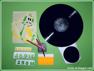 VinylRecordClock 1 wesens-art.blogspot.com