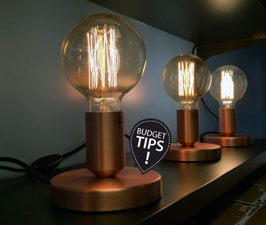 Snygg stilrenlampa för en spottstyver! Base från Clas Ohlson för 99 kr | www.var-dags-rum.se