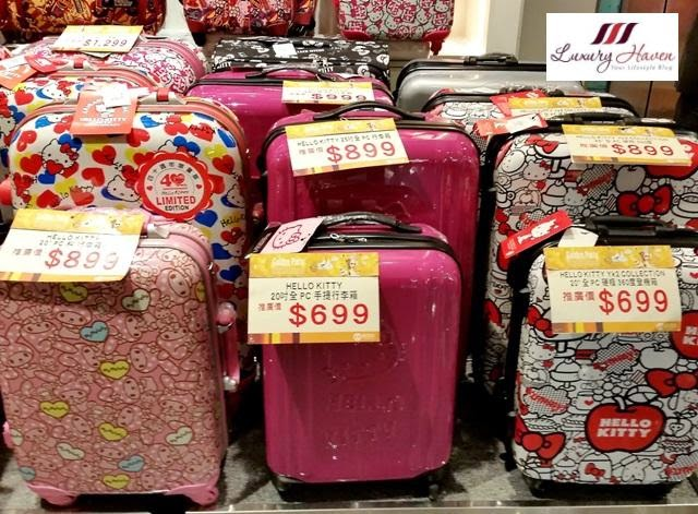 hong kong hello kitty shopping luggage bags
