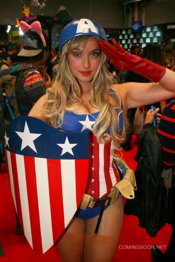 Captain America Sexy Cosplay de la New York Comic Con 2013