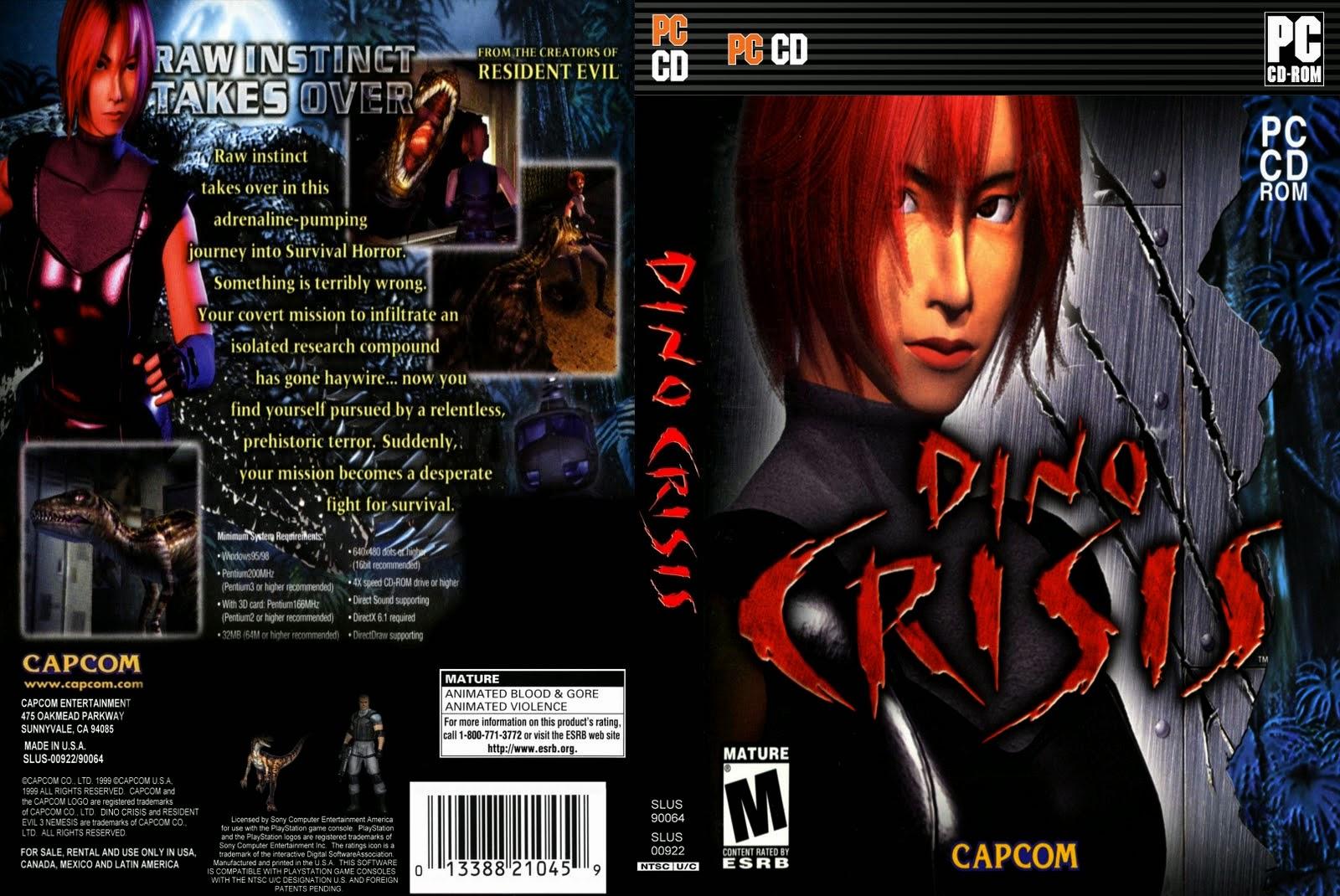 Jogo Dino Crisis PC DVD Capa