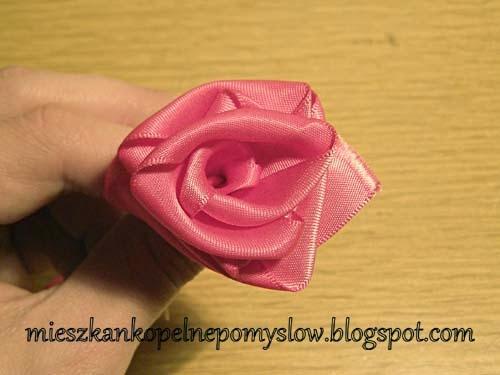 dekoracje, DIY, handmade, kursy, ozdabianie kartek, ozdabianie masy solnej, róża ze wstążki, ręcznie robione, rękodzieło,