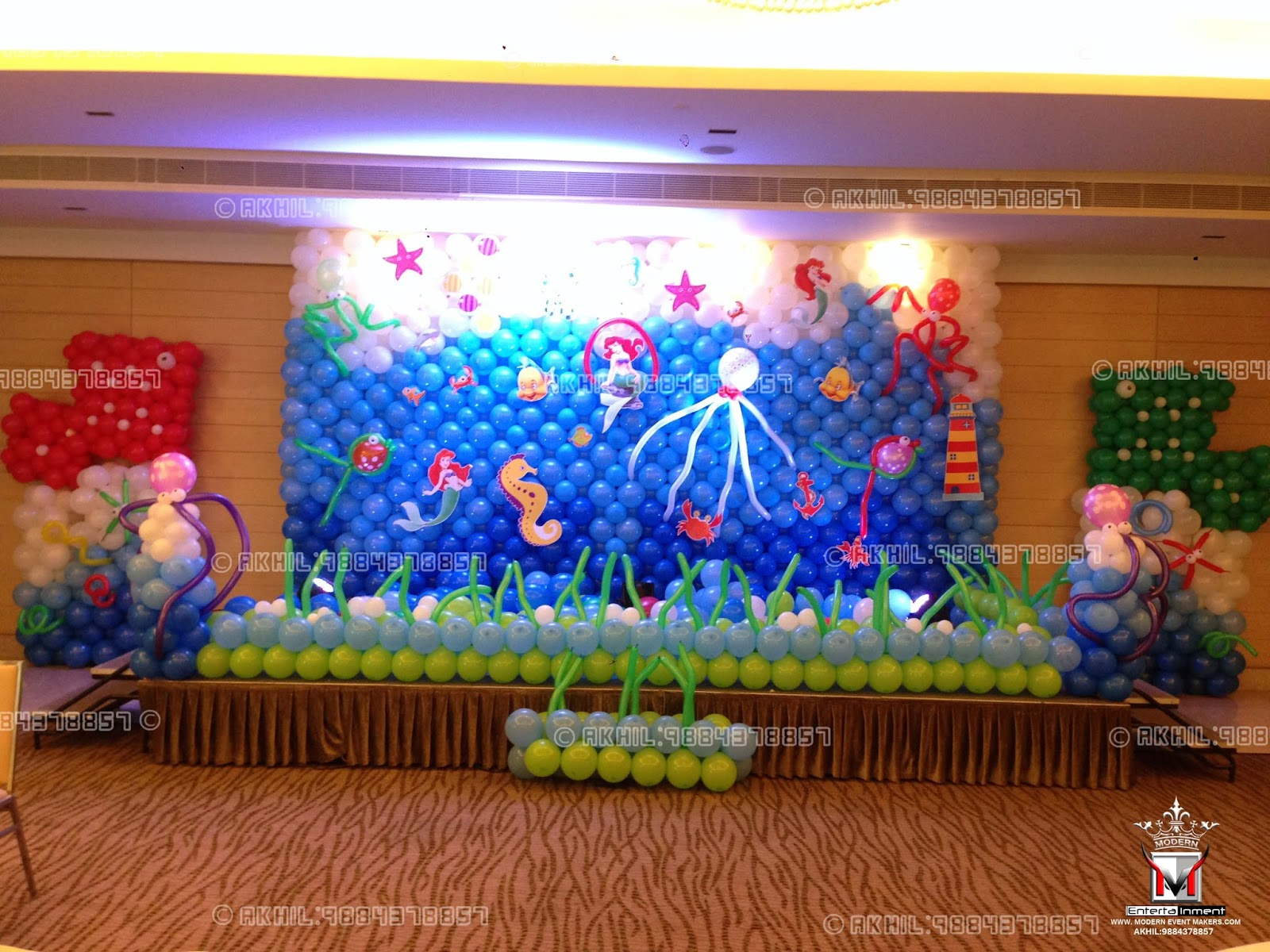 Top Class Balloon Decorators in chennai Akhil:9884378857