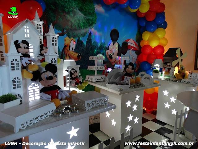 Tema Mickey Mouse para decoração de festa de aniversário infantil - Barra RJ