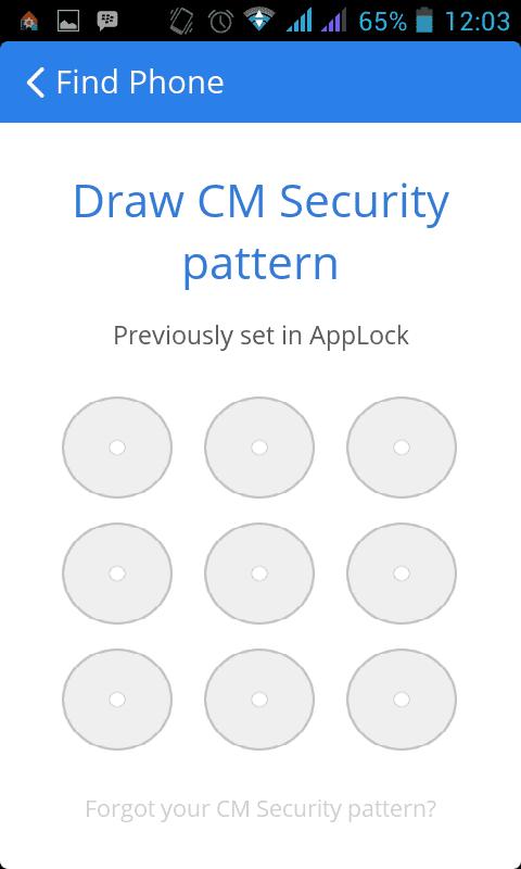 Mengunci HP menggunakan CM Security