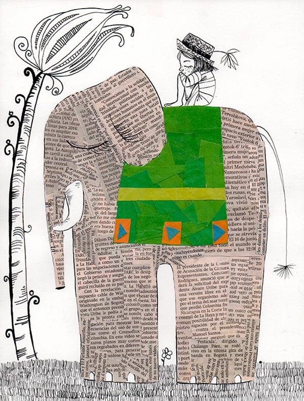 Ilustración, Paseo hindú de Paula Acero
