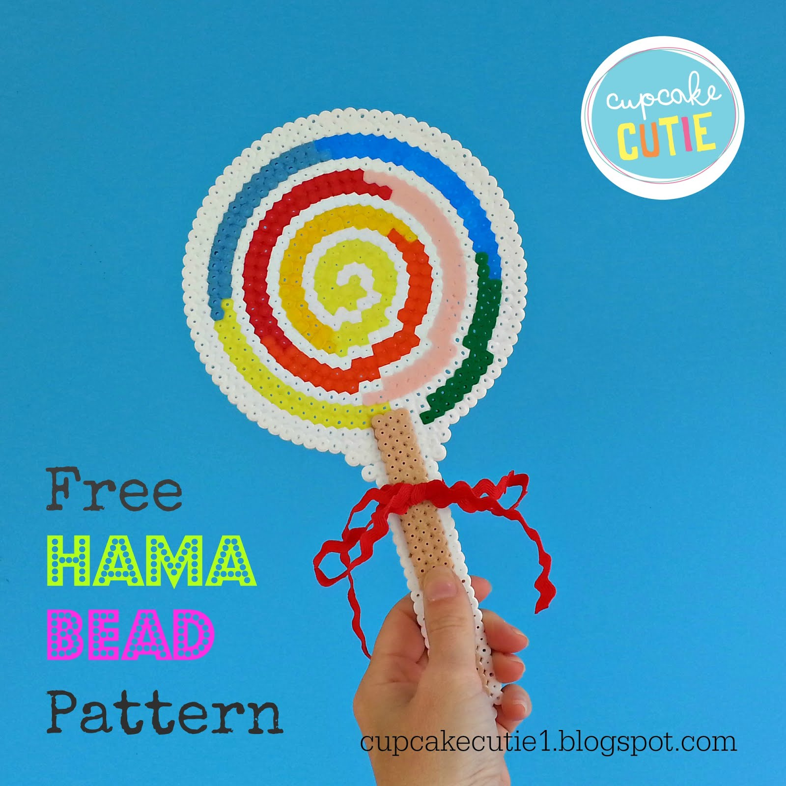 Free Tutorial: Giant hama bead lollipop