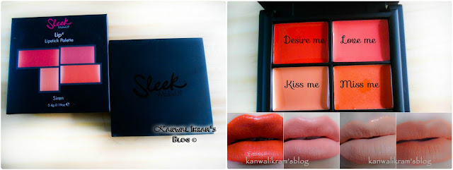 Sleek Lip 4 Pallet In Siren-Review And Swatches