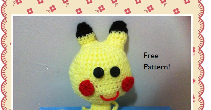 Amigurumi Patterns Pikachu : Cuteyamigurumi: chibi pikachu free crochet amigurumi pattern