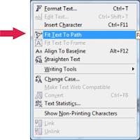 Membuat Tulisan/Text Melengkung Pada Corel Draw