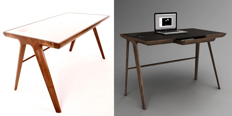 10 escritorios de dise o para cambiar el look a tu estudio - Disenos de escritorios ...