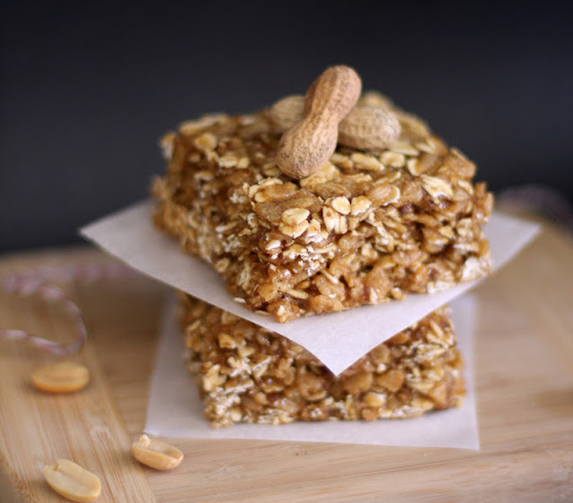 Healthy Peanut Butter Butterscotch Granola Squares - Desserts with Benefits