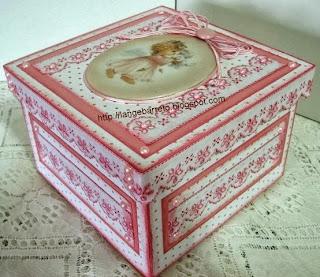 Caixa decorada placa de porcelana