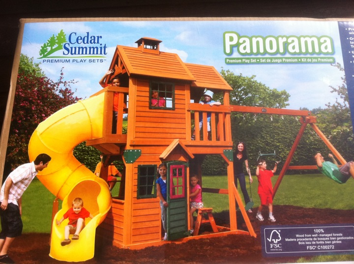 Playground Sets For Backyards Costco Part - 39: These Kids Look Entertained.