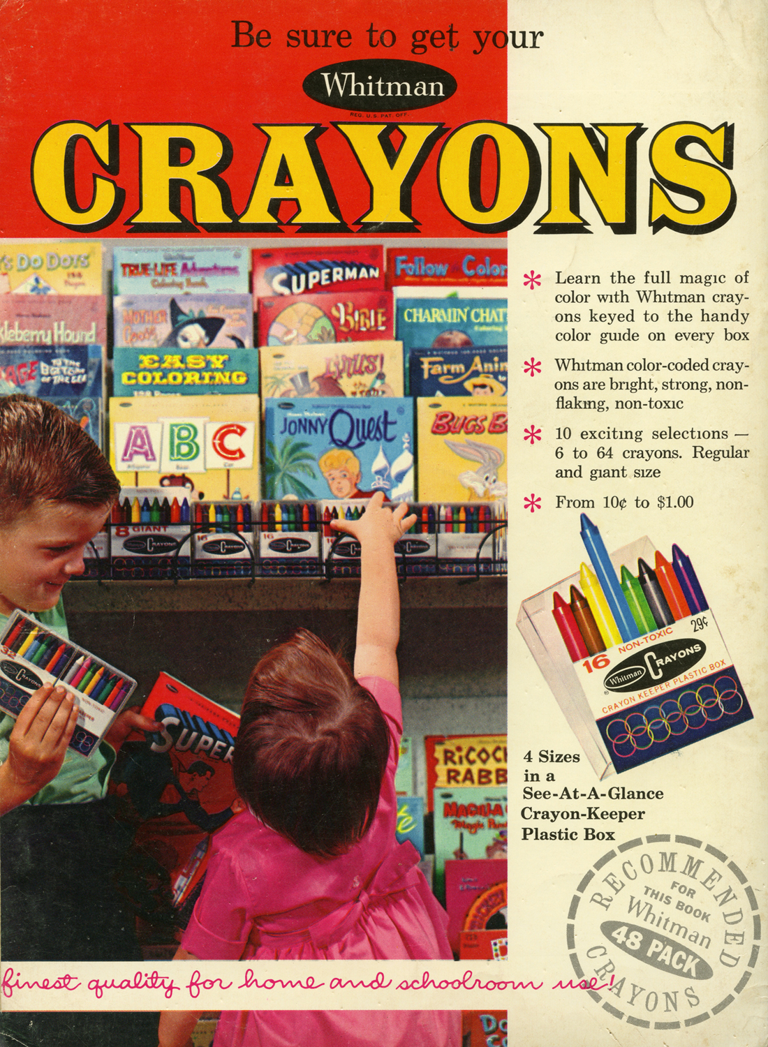 Neato Coolville: BE SURE TO GET YOUR WHITMAN CRAYONS (& SUPERMAN ...