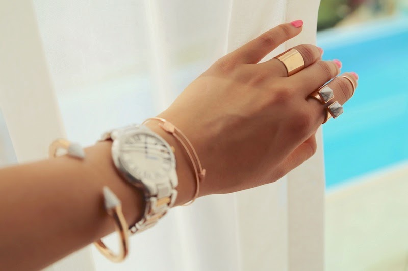 Rose Gold, Jewellery, Wanderlust & Co, The Peach Box, flowers, spring, summer, Raymond Weil, flatly
