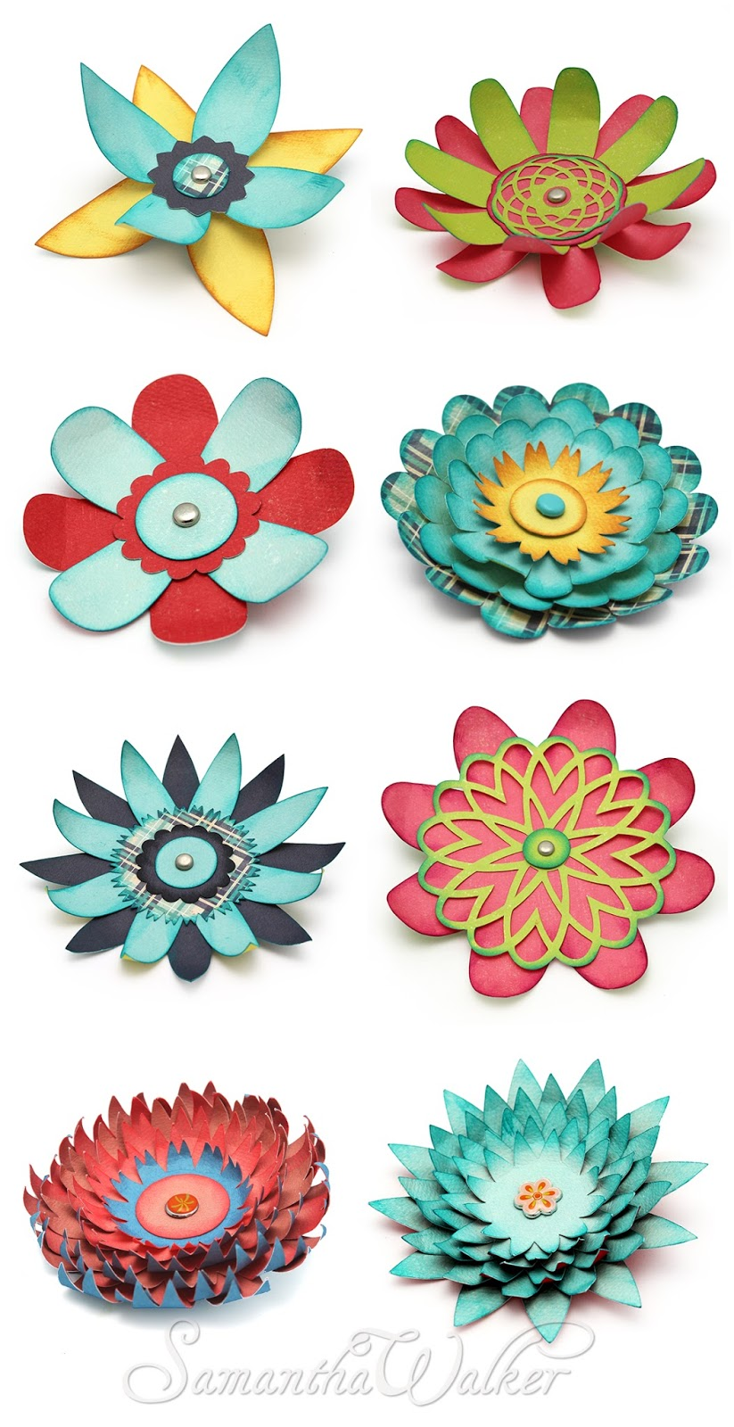 samantha walker's imaginary world: how to make 3d flowers a