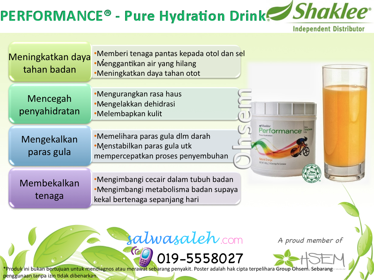 performance drink, performance drink shaklee, performance drink utk ibu mengandung, performance drink utk ibu hamil, performance drink utk siapa, kelebihan performance drink,