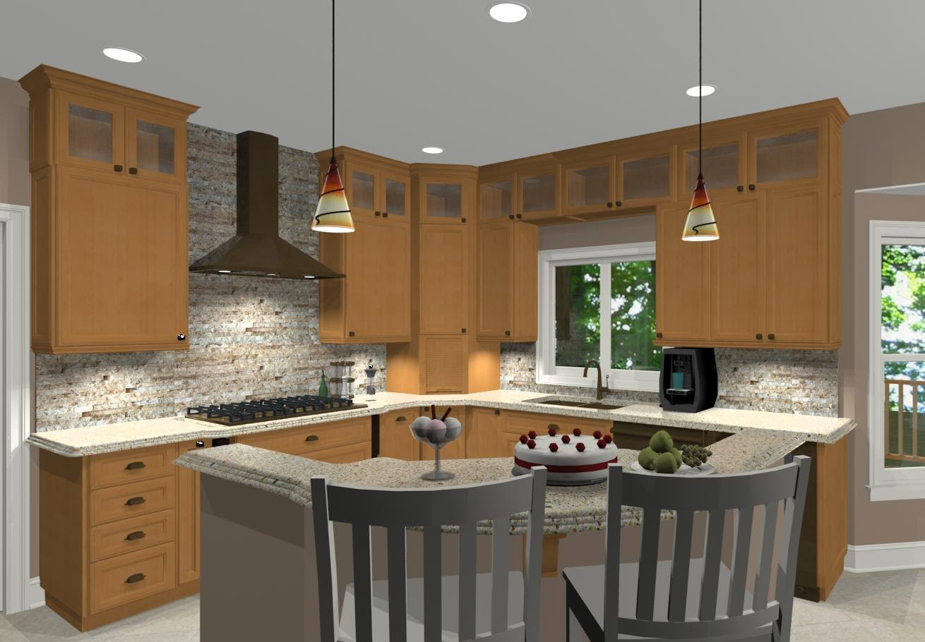 L shaped kitchen with island ideas Kitchen design l shaped layout
