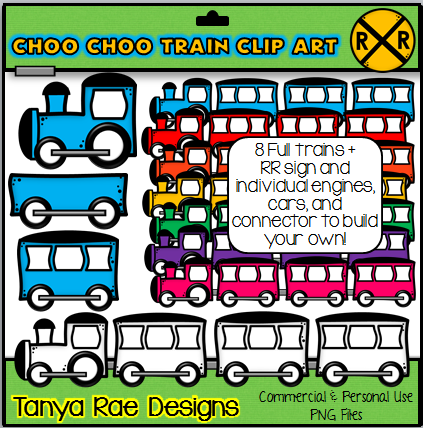 http://www.teacherspayteachers.com/Product/Choo-Choo-Train-Clip-Art-by-Tanya-Rae-Designs-1028352