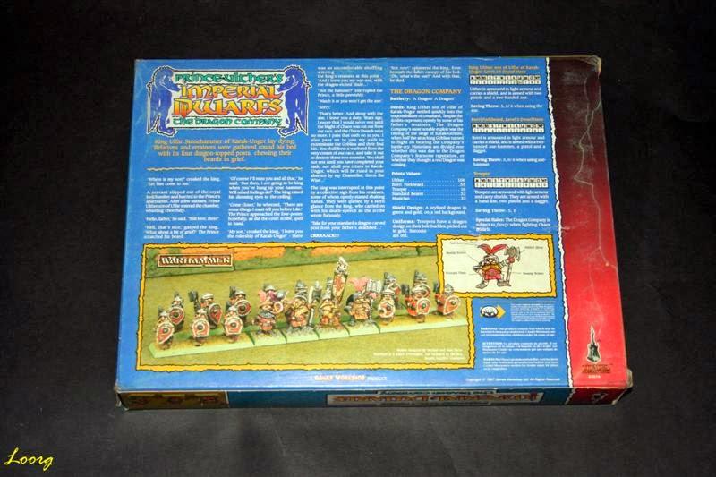 contraportada de la caja RRD7 - Prince Ulther's Imperial Dwarfs - The Dragon Company