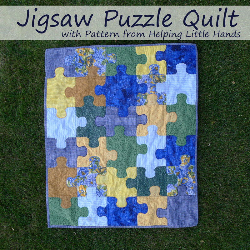 Pieces by Polly: Jigsaw Puzzle Baby Quilt (Free Pattern Included) : baby blanket quilt patterns for free - Adamdwight.com