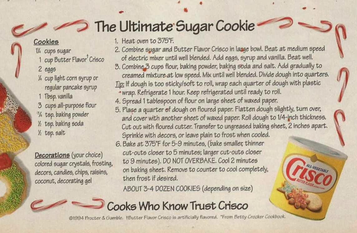 Classic Sugar Cookies   Crisco®