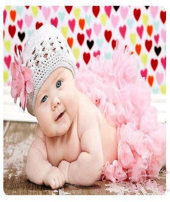 douce sourire d un mignon bébé