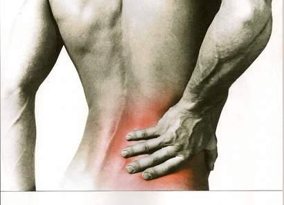 ont i ryggen vänster sida