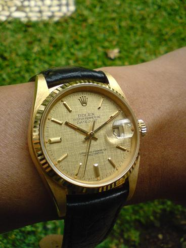 time heals rolex 16018 18k all gold