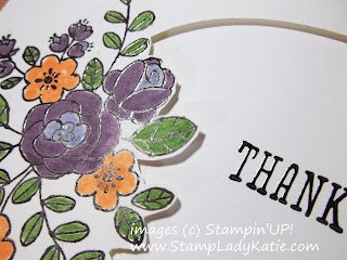 Fussy Cut Oval Flower Frame on a card made with Stampin'UP!'s So Very Grateful Stamp set