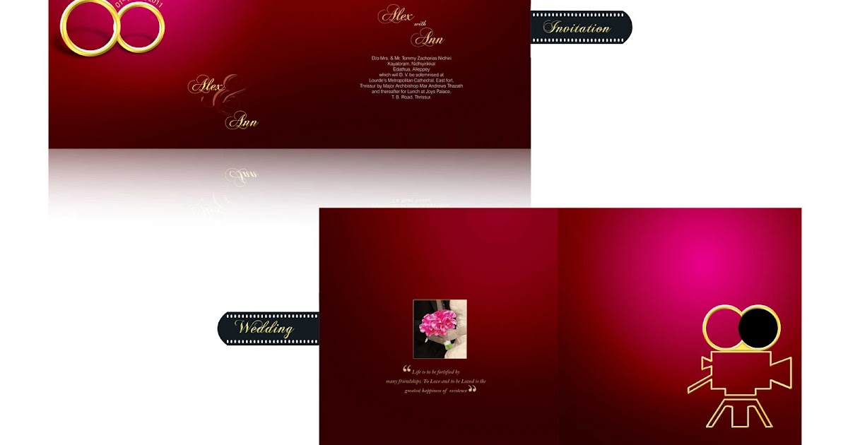 Photoshop Tutorials u0026 Designs: Wedding Cards Designs