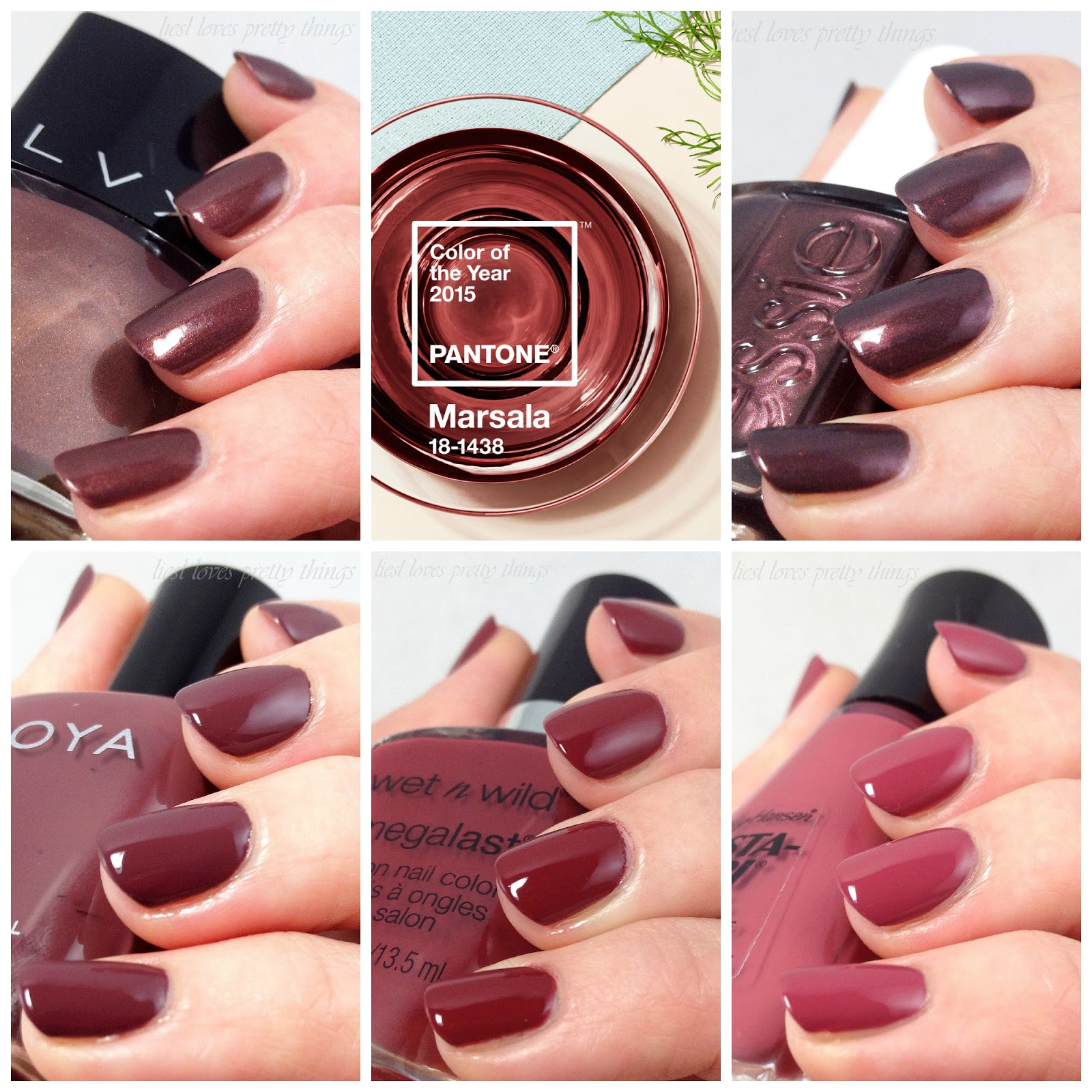 Pantone 2015 Color of the Year: Marsala Polish Picks