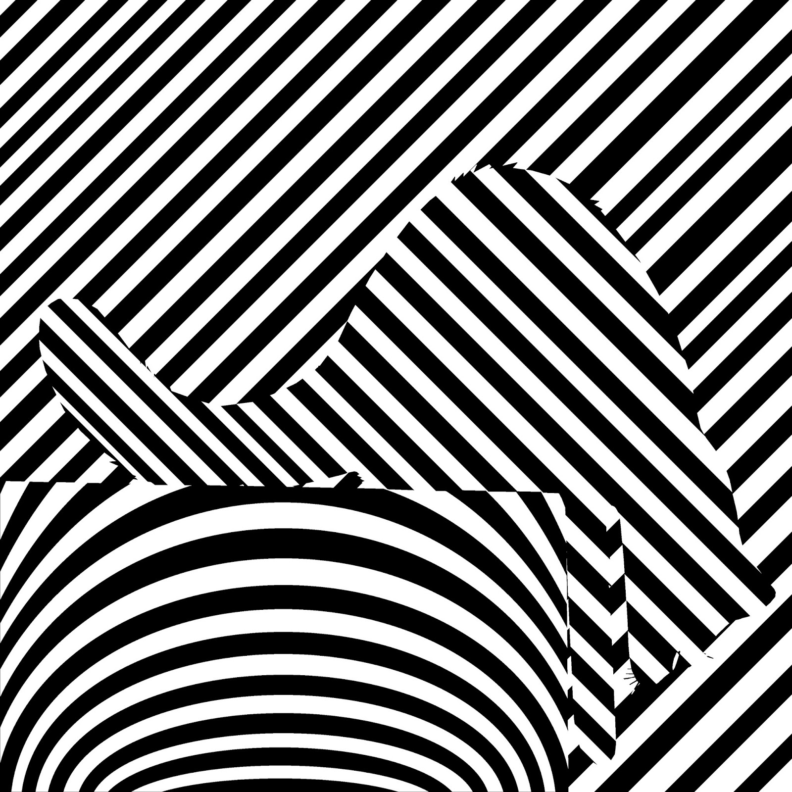 op art of black and white reaching catEasy Black And White Op Art