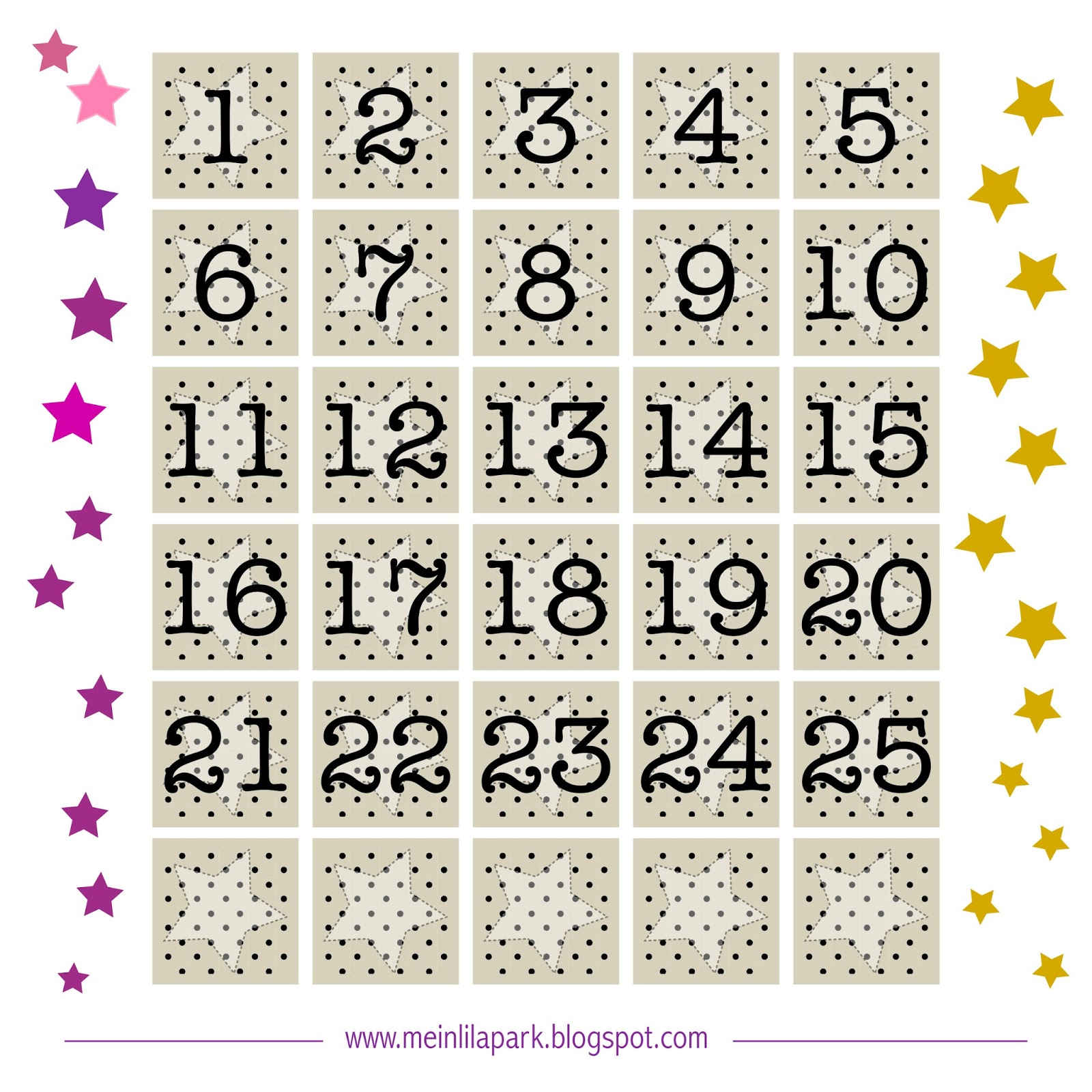 Free printable advent calendar tags - ausdruckbarer Adventkalender ...
