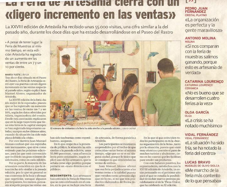Diario de Ávila 17-08-2011
