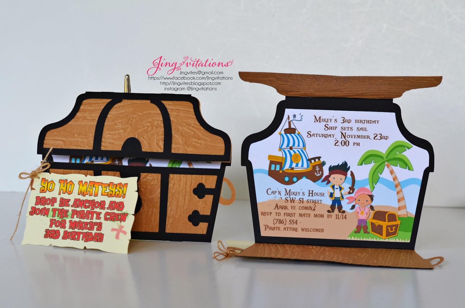Birthday and Baby Shower Invitations: Jake and the Neverland Pirate ...