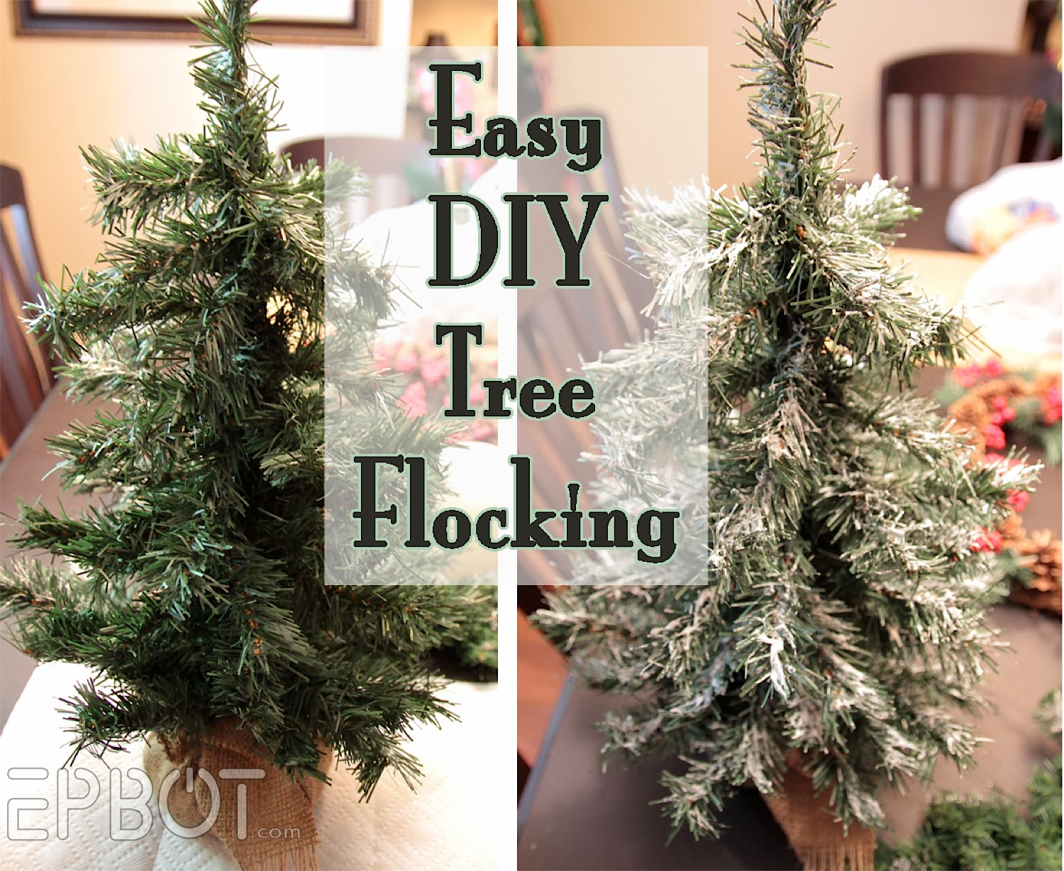 Flocking Artificial Christmas Tree