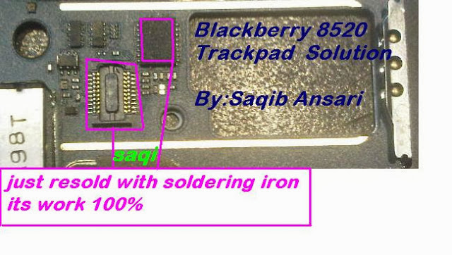 BLACKBERRY  8520 TRACKPAD SOLUTION