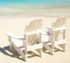 chairs on beach photo
