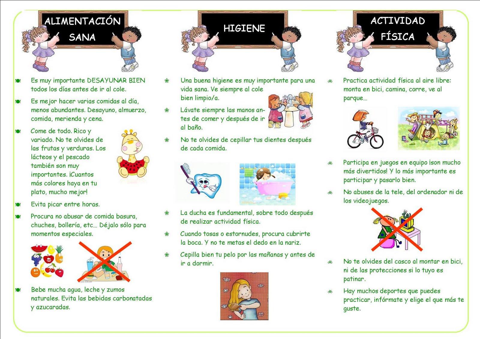 Triptico De De Higiene Personal | MEJOR CONJUNTO DE FRASES