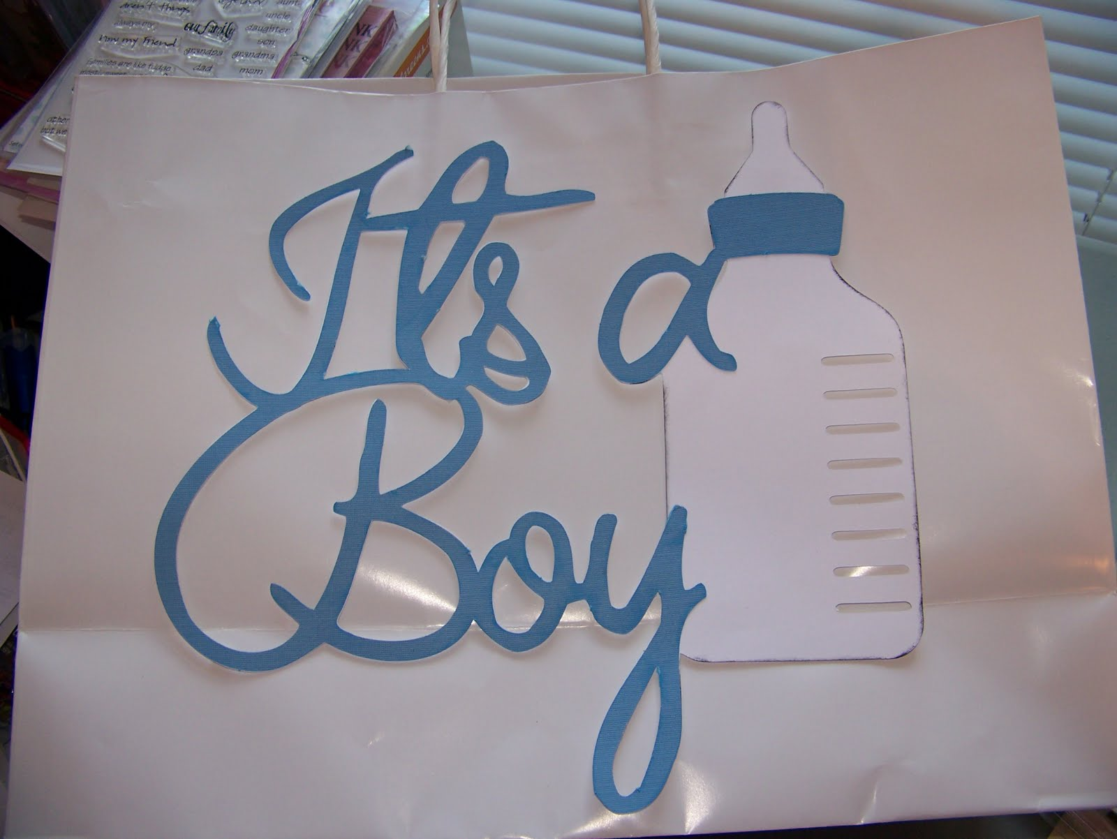 Jen Luvs Cricut Corner Baby Shower Card And Bag