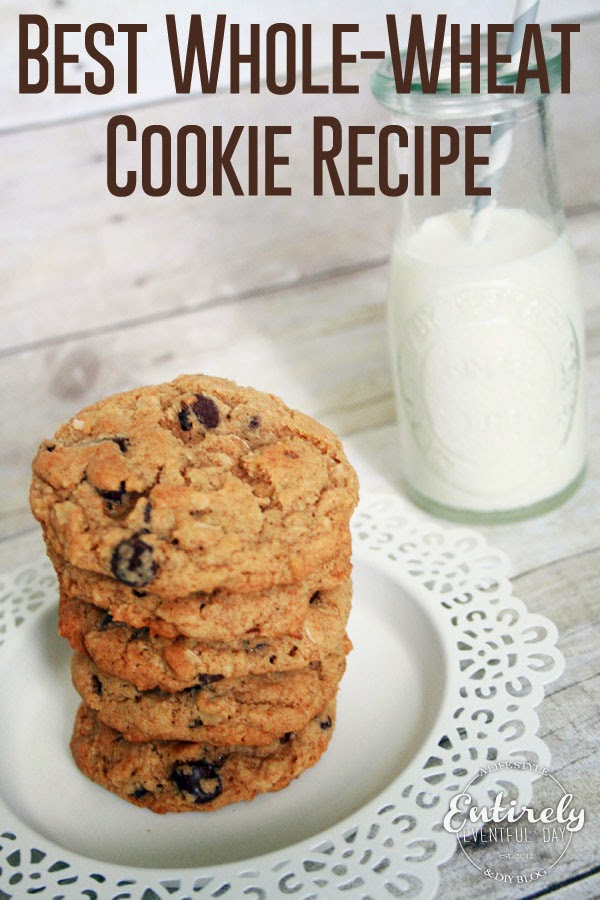 Finally a cookie recipe with some nutrition that my kids LOVE! #cookies #recipe #wholewheat www.entirelyeventfulday.com
