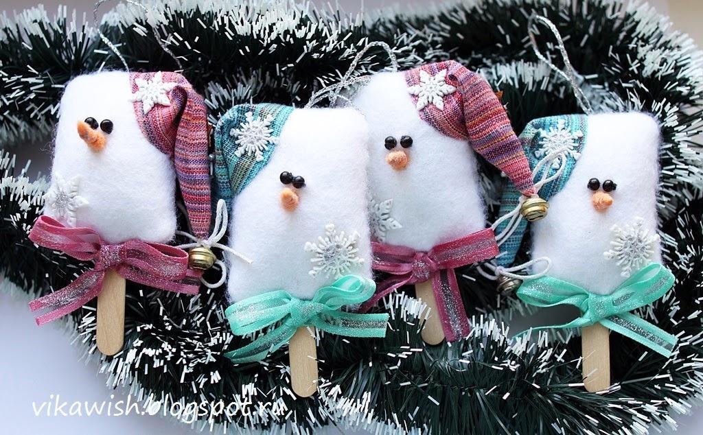 Картинки из фетра зима